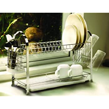 Amazon Com Vanderbilt Home Deluxe 2 Tier Dish Rack Two
