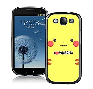 For Samsung Galaxy S3,100% Brand New Pokemon Popular Cute and Funny Pikachu 09 Black For Samsung Galaxy S3 i9300 Case