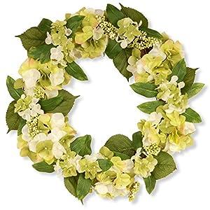 National Tree Company Garden Accents 24 in. Hydrangea Berry Wreath - Cream 118