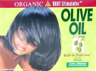 Organic Root Stimulator Olive Oil Relaxer (Extra-strength) (3-Pack) with Free Nail - Olive Organic Root Oil