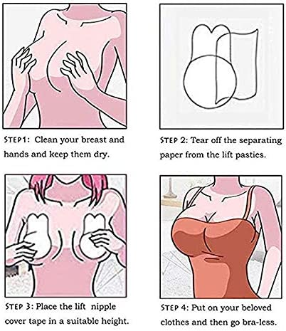 Push Up Bra Breast Reusable Nippleless Cover Rabbit Lift Nipplecovers Self Adhesive Strapless Backless Invisible Sticky