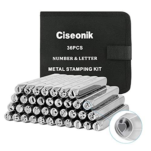 Sellos de acero al carbono estampa Nº, letras,formas x 37u,