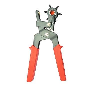 Uhrenarmband Ledergürtel Locher Zange Leder Revolving Punch Tools 6 Größe