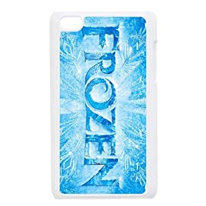 Custom 3D film Frozen princess of Arendelle Elsa IPod Touch 4/4G/4th Generation Hard Plastic Shell Case Cover White&Black(HD image)