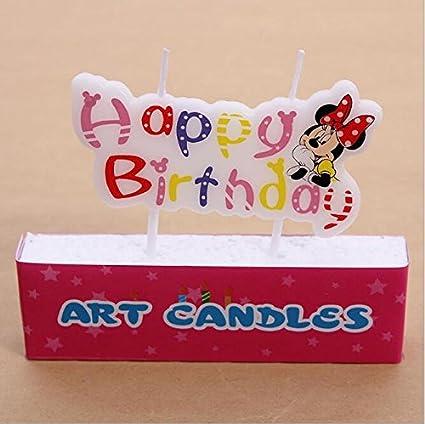 Vela de cumpleaños - Minnie Mouse: Amazon.es: Hogar