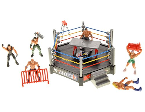 PowerTRC Wrestling Toy Figure Set w/ Ring (12 Figures)