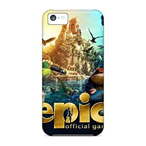 Scratch Protection Cell-phone Hard Covers For Iphone 5c (Esm3489DujA) Allow Personal Design Realistic Madagascar 3 Image