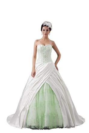 Orifashion Light Green Corset Pleated Ball Wedding Dress BWGHER0108 ...