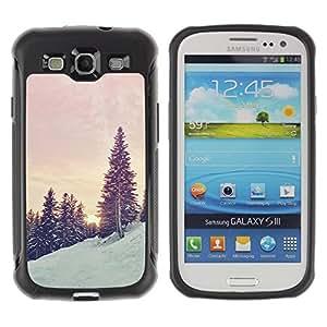 Paccase / Suave TPU GEL Caso Carcasa de Protección Funda para - Trees Snow Mountain Sunrise Sunset - Samsung Galaxy S3 I9300