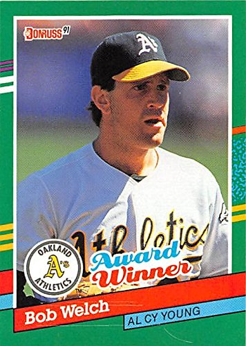 Bob Welch Baseball Card Oakland Athletics 1991 Donruss