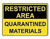 ComplianceSigns Vinyl Quarantine Label, 7 x 5 in. with English, Yellow