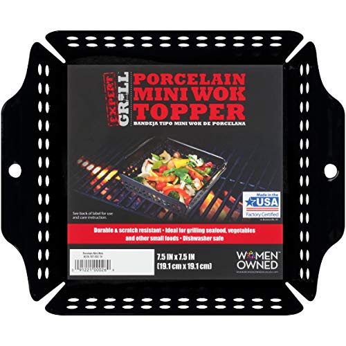 (Expert Grill Porcelain Mini Wok Topper Made in USA)