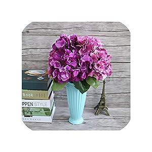 5 Flower Head Artificial Silk Mock Hydrangea & Dried Flowers Bouquet DIY Home Wedding Party Decoration 57