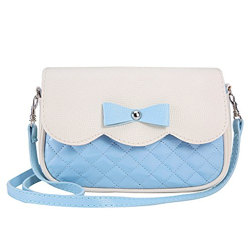 Bag Leather Handbag Messenger Bag Sky Girls Purse Women Fashion Bag Rcool Blue Shoulder Women Cross Bags Shoulder Bowknot Body 0nCq7
