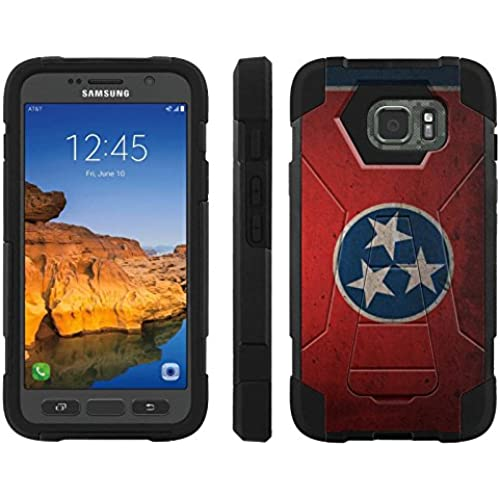 AT&T [Galaxy S7 Active] ShockProof Case [ArmorXtreme] [Black/Black] Hybrid Defender [Kickstand] - [Tennessee Flag] for Samsung Galaxy [S7 Active] Sales