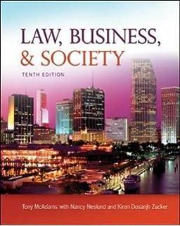 Amazon law business and society 9780078023866 tony mcadams law business and society fandeluxe Choice Image