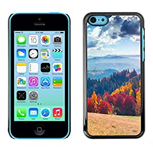 Print Motif Coque de protection Case Cover // V00001758 Paisaje colorido del otoño // Apple iPhone 5C