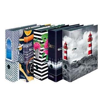 Herlitz Invierno - Archivador, modelos surtidos, 1 unidad: Amazon.es: Oficina y papelería