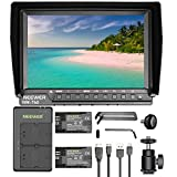 Neewer NW-760 (C) Camera Field Monitor Ultra-thin 7-inch IPS Screen 1080P Full HD 1920x1200 Support 4k Input with 2-pack LP-E6 Replacement Li-ion Battery and Micro USB Dual Charger for DSLR Cameras