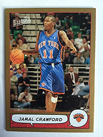 49647d5a 2004 Bazooka Basketball Gold 84 Jamal Crawford NM/M (Near Mint/Mint)