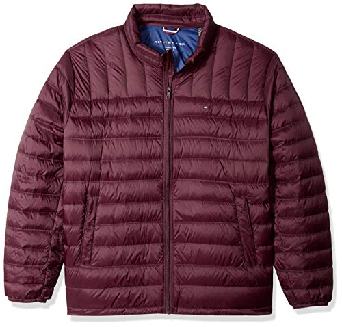 Tommy Hilfiger Men's Big and Tall Packable Down Jacket (Regular and Big & Tall Sizes), Merlot ()