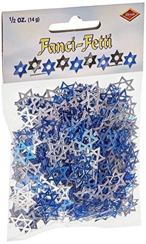 Fanci-Fetti Star Of David (blue & silver) Party Accessory  (1 count) (.5 Oz/Pkg)