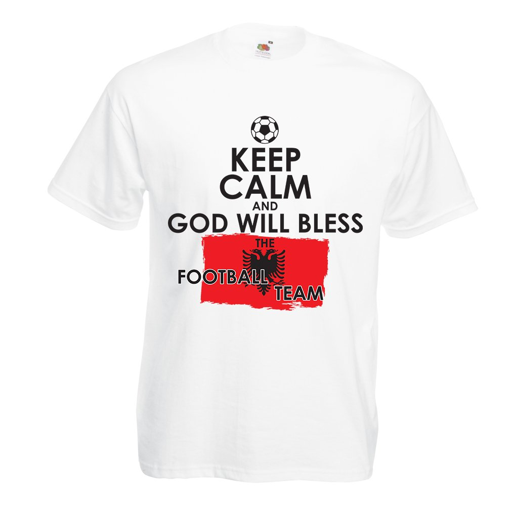 T Shirts For God Will Bless The Albanian National Football Team Championship World Cup Soccer Team Fan Shirt