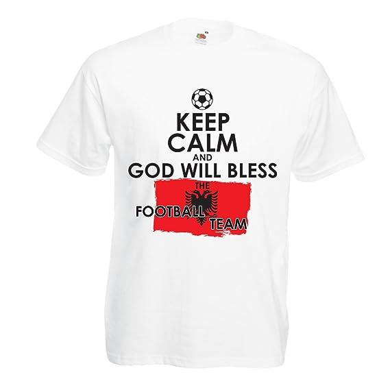 lepni.me Camisetas Hombre Dios bendecirá al Equipo de Fútbol Nacional Albanés - Campeonato, Equipo de Fútbol de la Copa del Mundo: Amazon.es: Ropa y ...