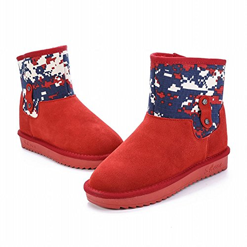 Dameslaarzen Geassorteerde Kleuren Fashion Warm Comfort Platte Snowboots Rood