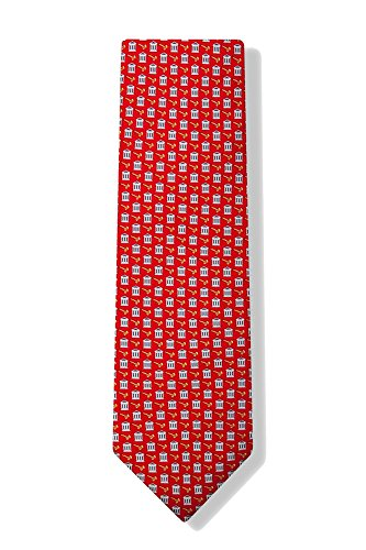 Novelty Silk Red Ties Alynn (Men's 100% Silk Law Legal Court Houses & Gavels Lawyer Judge Necktie Tie Neckwear)