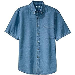 Joe's USA 6.5-Ounce Short Sleeve Denim Shirts in Sizes XS-6XL