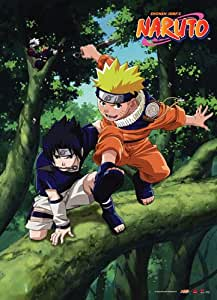 Great Eastern Entertainment Naruto and Sasuke Wall Scroll, 33 by 44-Inch