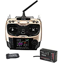 Crazepony Radiolink AT9S  Transmitter Bundle With Crazepony Strap, 10CH Support S-BUS PPM PWM and R9DS Receiver 3MS Response for Drone RC Car Boart