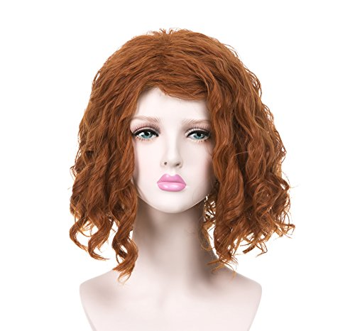 EDENKISS Cartoon Movie Character Cos-play Wig Adjustable for Both Adult and Kid with Free Wig Cap (Black Widow SC906 T2735/350#) ()