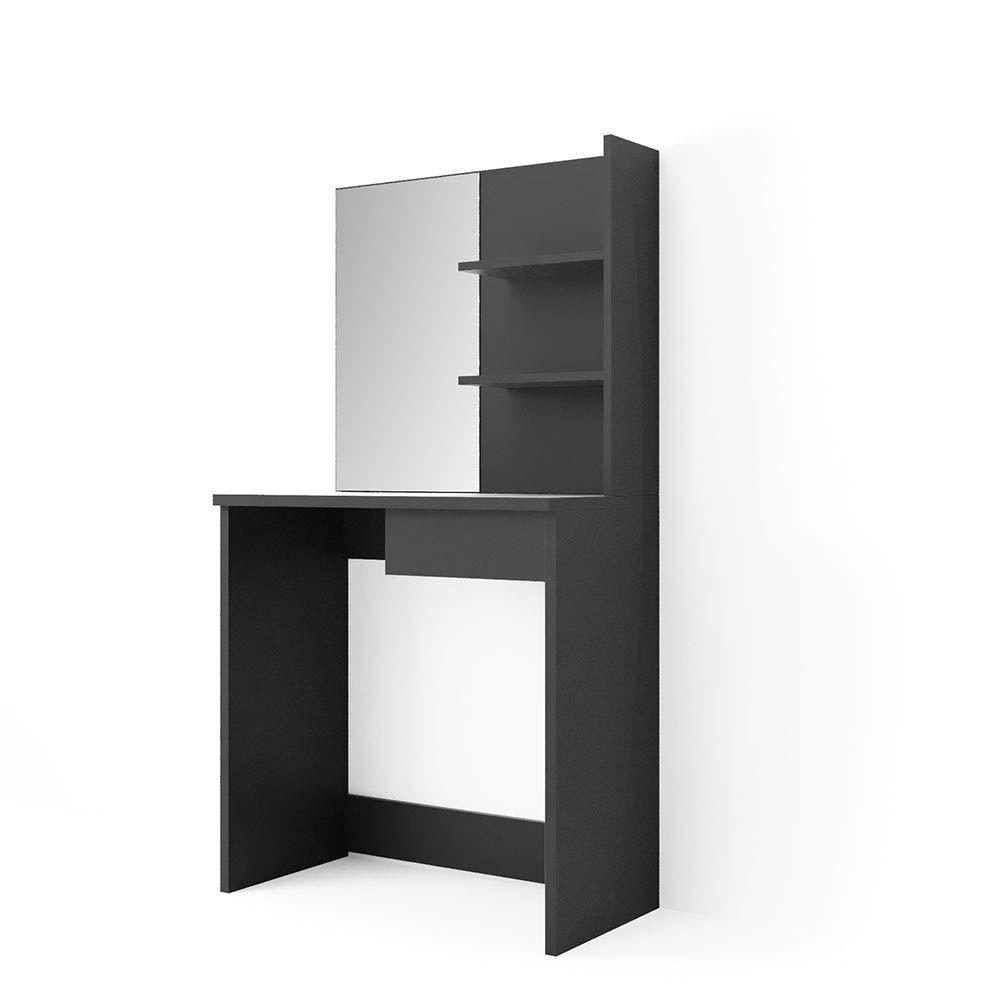 brand new 5b0a9 0687b Vicco dressing table DEKOS - Dressing table vanity mirror high-gloss (black)