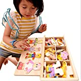 Coobl® Wooden Bear Family Dress-Up Puzzle