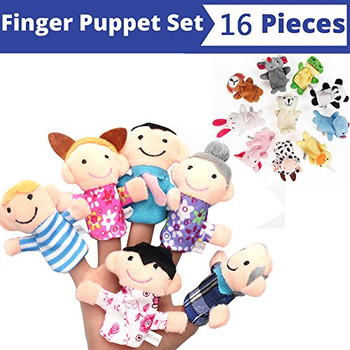 16 Piece finger puppets.