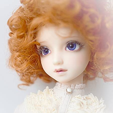 1//3 BJD SD Doll Wig with 9-10 Inch BJD Doll Wig High Temperature Synthetic Fiber Long Dark Brown Curls Hair Wig BJD Doll Wigs for 1//3 BJD SD Doll 33#