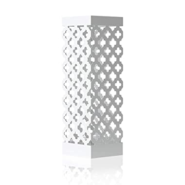 NEX Umbrella Holder Metal Umbrella Stand Rack for Home Office Decoration Drip with Tray and Hook White