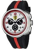 FerrariMen's Fast Lap White Dial Black Rubber Strap Quartz Watch