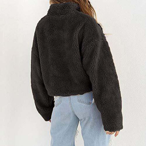 Blousons Noir Manteau Mode Coton Col Sweat Doudoune Zipper Chaud Sanfashion Court Suède q16wPtt