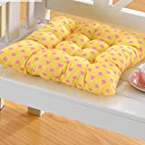 Chair Pads, Tenworld Home Kitchen Office Square Buttocks Seat Cushion Pads Pillow (Yellow 2)