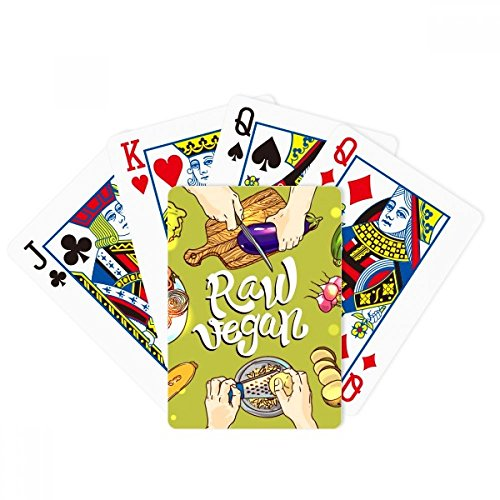 beatChong Raw vegan Vegetables Potato Tomato Poker Playing Card Tabletop Board Game Gift by beatChong