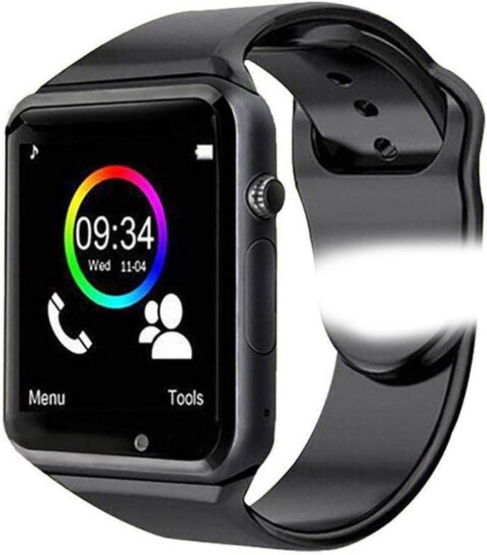 N\A Smart Watch Deportivo, Reloj Inteligente Bluetoothh con Podómetro y Ranura para Tarjeta SIM, Monitor de Sueño, Adecuado para Android iOS Samsung Huawei Xiaomi, Hombre, Mujer y Niño