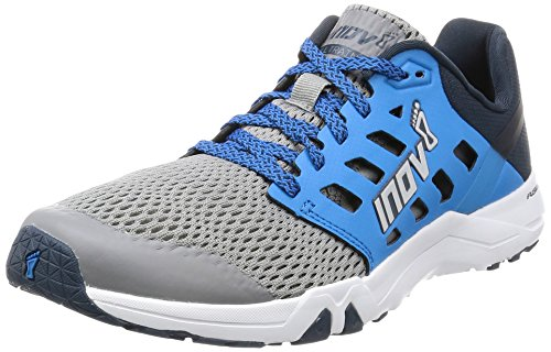 Inov-8 Men's All Train 215 Cross-Trainer Shoe, Grey/Blue/Navy, 11 D US