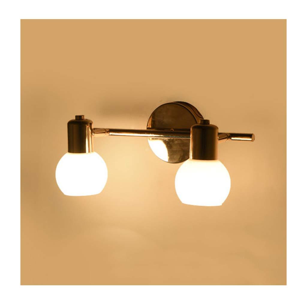 &Badezimmerbeleuchtung Spiegel Scheinwerfer, Ankleidezimmer Lampen, Badezimmer Feuchtigkeitsfest und Anti-Fog Spiegel Kabinett Lichter Licht (Größe   Two head)
