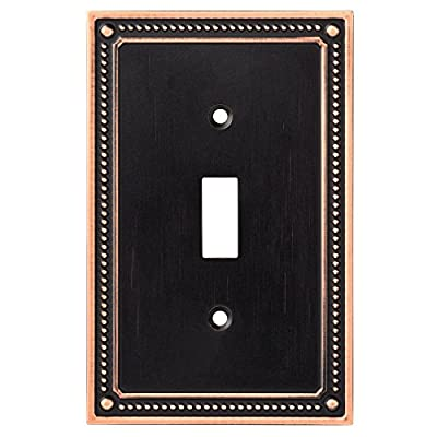 Franklin Brass Classic Beaded Single Switch Wall Plate/Switch Plate/Cover