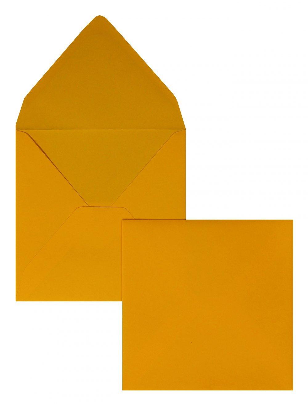 Farbige Briefhüllen Briefhüllen Briefhüllen   Premium   140 x 140 mm Orange (100 Stück) Nassklebung   Briefhüllen, KuGrüns, CouGrüns, Umschläge mit 2 Jahren Zufriedenheitsgarantie B01DULH2V0 | Moderne und stilvolle Mode  2c5f6b