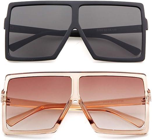 Men Sunglasses Anti-Reflective Women Oversized  Square Frame Glasses 100/% UV400