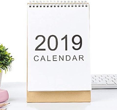 Calendario de mesa SLIJing Rare 2019, planificador semanal, planificador mensual, calendario de escritorio, diario, lluvia, estilo simple, calendario de escritorio utilizable 2018-2019 .12 vertical: Amazon.es: Hogar